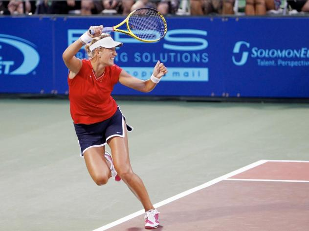 Victoria Azarenka with the Washington Kastles at City Center in 2010