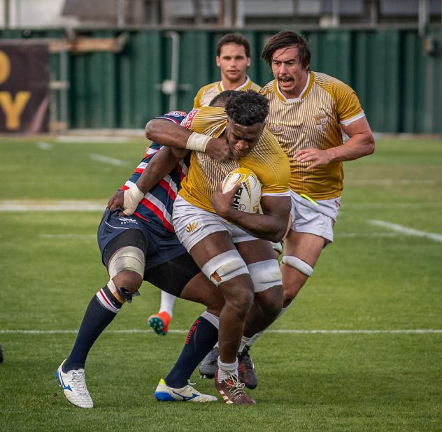 NOLA Gold's Malcolm May fights through a tackle