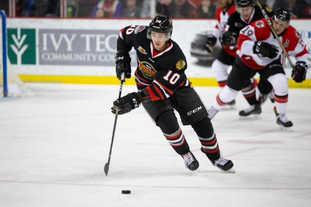 Forward Kevin Dufour with the Indy Fuel