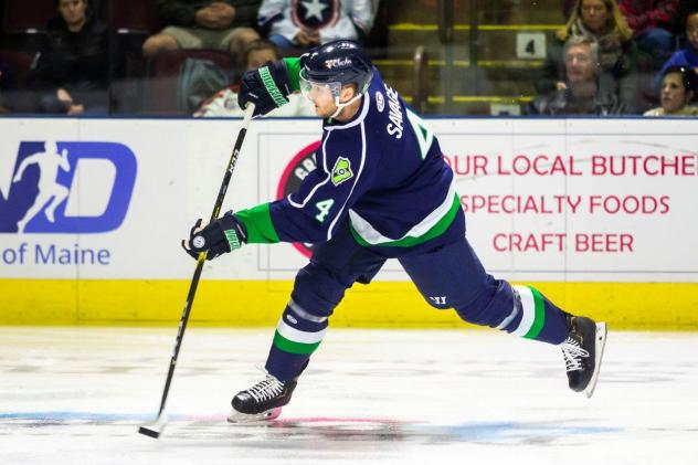 Maine Mariners defenseman Scott Savage
