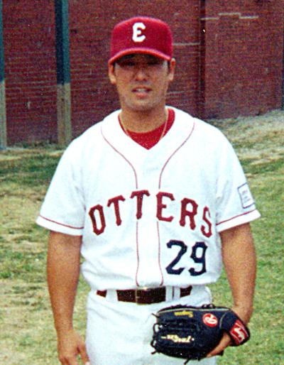 Brendan Sagara with the Evansville Otters