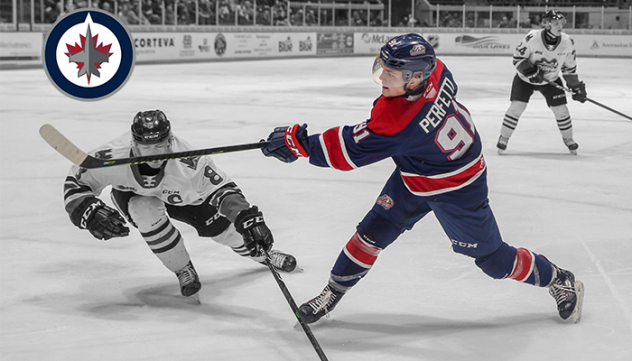 Cole Perfetti with the Saginaw Spirit