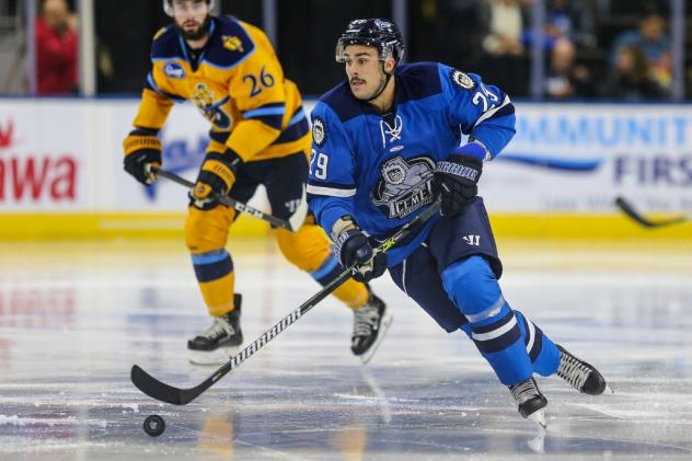 Forward Maxime Fortier with the Jacksonville IceMen