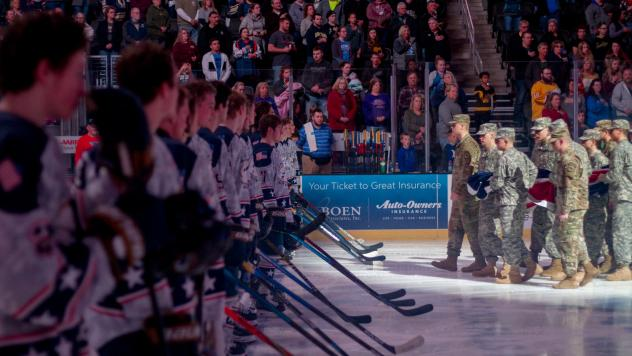 Sioux Falls Stampede's Military Appreciation Night