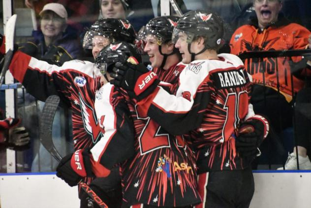 Aberdeen Wings celebrate a goal