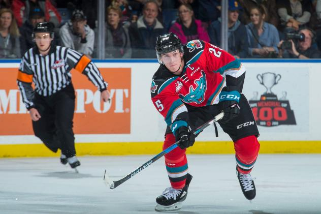 Cal Foote with the Kelowna Rockets