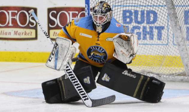 Goaltender Trevor Gorsuch with the Toledo Walleye