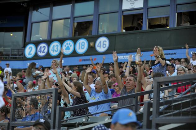Fans enjoy a game at Pelicans Ballpark, home of the Myrtle Beach Pelicans
