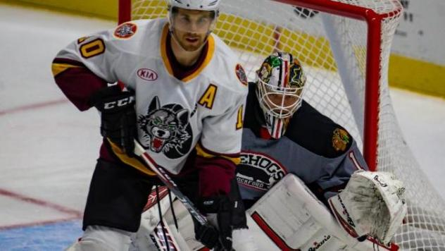Rockford IceHogs battle the Chicago Wolves