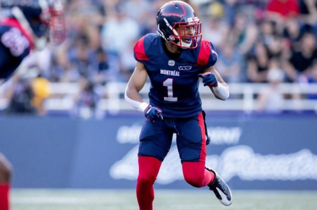 Defensive back Ciante Evans with the Montreal Alouettes