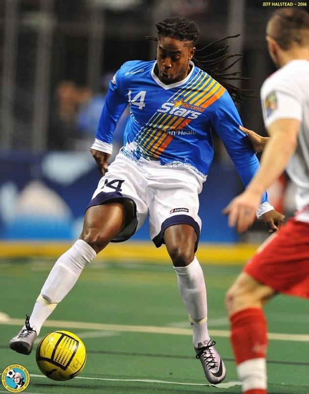 Midfielder Ty Hall with the Tacoma Stars