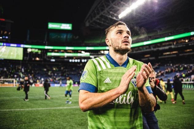 Seattle Sounders FC forward Jordan Morris