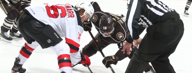 Binghamton Devils face off with the Hershey Bears