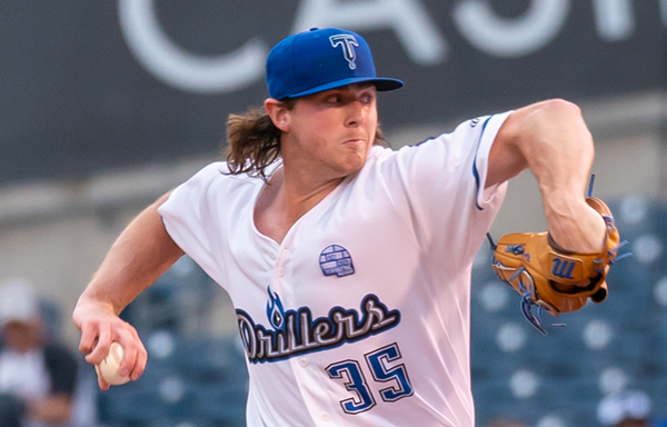 Tulsa Drillers pitcher Ryan Pepiot allowed just one hit in four shutout innings Thursday night