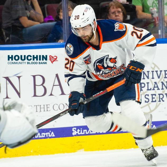 Cooper Marody with the Bakersfield Condors