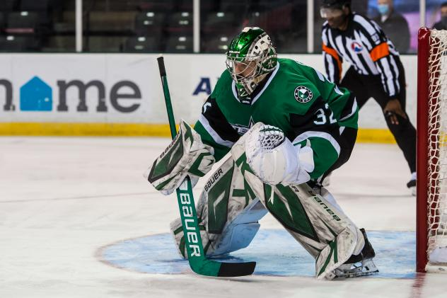 Goaltender Colton with the Texas Stars