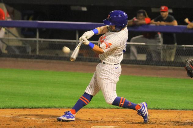 Mark Payton tripled and homered on Tuesday night for the Syracuse Mets