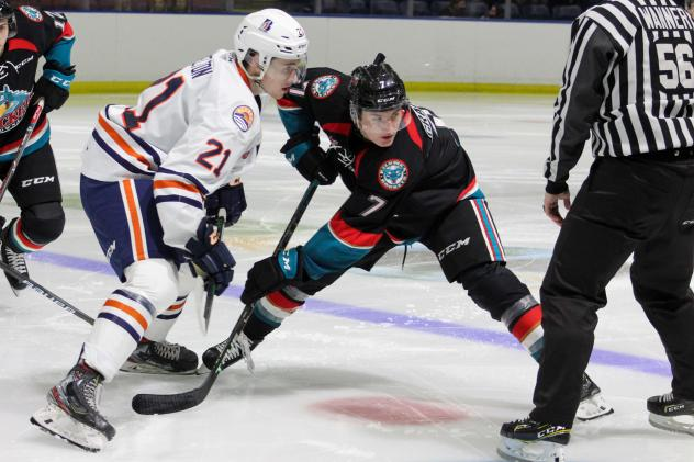 Kelowna Rockets face off with the Kamloops Blazers