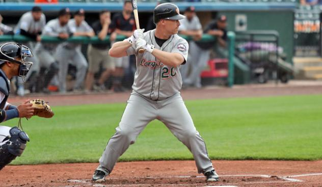 Lew Ford at bat for the Long Island Ducks