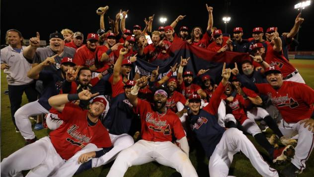 Mississippi Braves celebrate the Double-A South championship