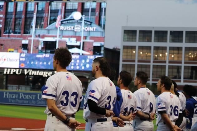 High Point Rockers during the National Anthem