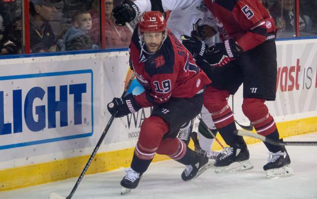 Forward Joey Sides with the Rapid City Rush