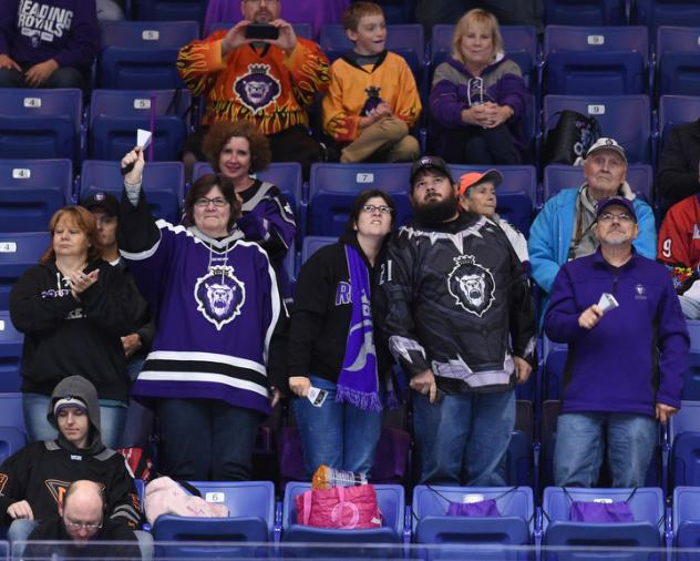 Reading Royals fans enjoy the action