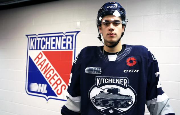 Kitchener Rangers 2021-22 Remembrance Day jersey