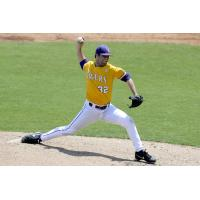 Battle Creek Bombers Pitcher Alden Cartwright with LSU
