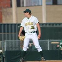 Battle Creek Bombers Pitcher Andrew Mitchell with Delgado Community College