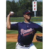 Jose Capellan with the Rome Braves