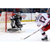 Hartford Wolf Pack Forward Ryan Bourque Shoots on Goal