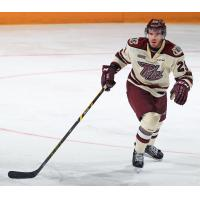 Forward Michael Clarke with the Peterborough Petes