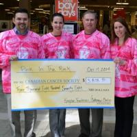 Frontenacs Present 'Pink in the Rink' Cheque
