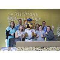 South Bend Cubs Mascot Stu at Michiana Hematology Oncology