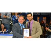 Mike Angelidis Presented with Syracuse Crunch MVP Award