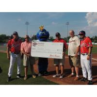 Rome Braves Present Check to the United Way