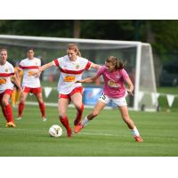 Samantha Mewis of the Western New York Flash and Mandy Laddish of FC Kansas City
