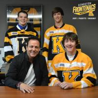 Kingston Frontenacs Signees Robbie Burt, Jacob Paquette and Jakob Brahaney
