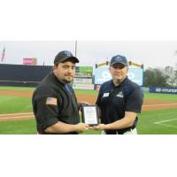 Trenton Thunder Present Small Business of the Month Award to Christopher M. Brooks of CMB Karate