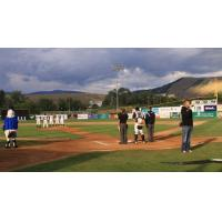 The National Anthem at a Missoula Osprey Game