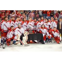 Allen Americans after Game 7 Win over Ontario Reign