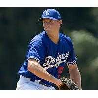 LHP Mike Watt with the Los Angeles Dodgers