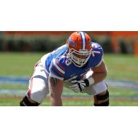 Offensive Lineman Tyler Moore with the Florida Gators