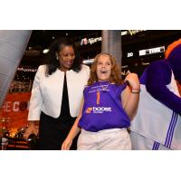 WNBA President Laurel Richie and