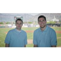 Ogden Raptors Broadcast Team Robbie Bullough and James Hajek