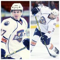 RW Andrew Miller and D Brad Hunt of the Oklahoma City Barons