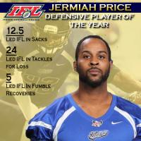 IFL Defensive Player of the Year Jermiah Price