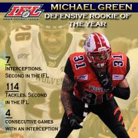 IFL Defensive Rookie of the Year Michael Green