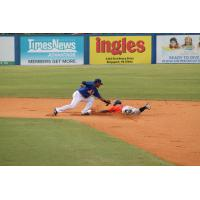 Osvaldo Duarte of the Greeneville Astros Steals Second